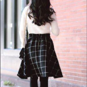 Maison Jules black circle skirt M